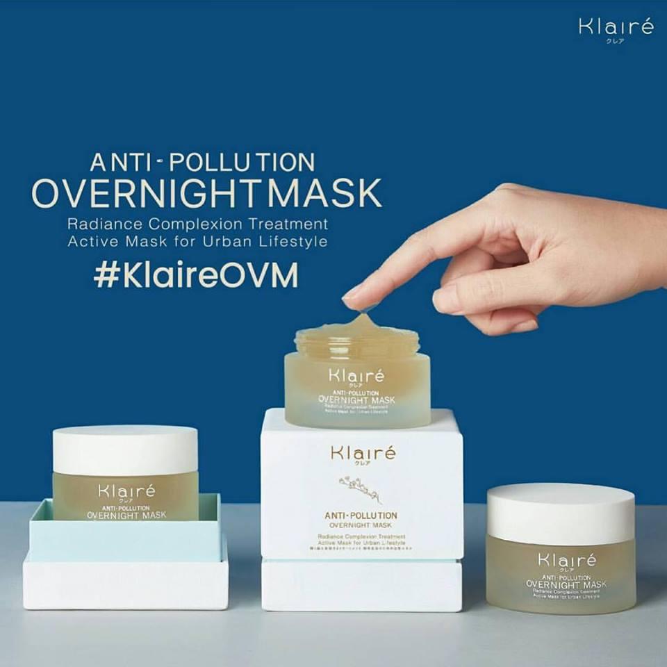 Klaire', Anti-Pollution Overnight Mask,มาสก์,Sleeping mask