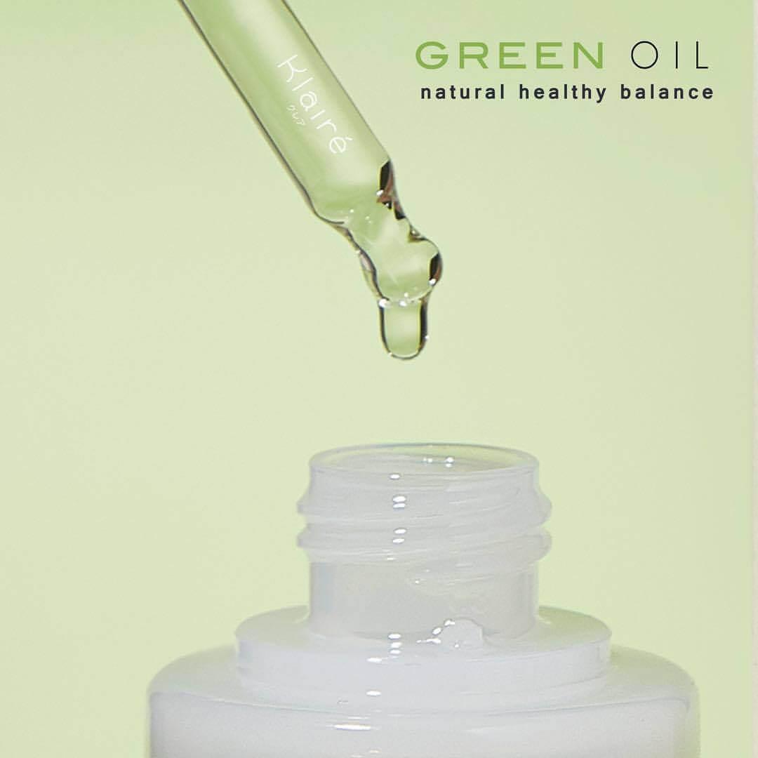 Klaire',Klaire' Green Oil,Klaire Green Oil,แคลเอ้ กรีนออยล์,กรีนออยล์,ออยล์บำรุงผิว,แคลเอ้ ออยล์,Klaire' Green Oil 8ml,ต่อต้านริ้วรอย