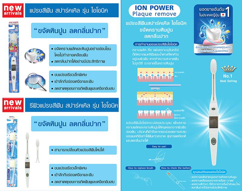 Sparkle, Ionic Wide-Head Toothbrush,แปรงสีฟันสปาร์คเคิล, แปรงพลังไอโอนิค,แปรงสีฟัน,แปรงดูดหินปูน