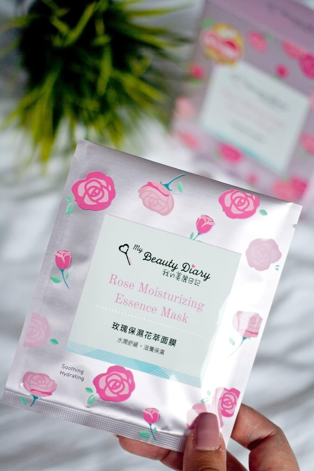 My Beauty Diary ,  Rose Moisturizing , Rose Moisturizing Essence Mask , มาส์กสารสกัดจากดอกกุหลาบ , ปราศจากแอลกอฮอล์ 100%