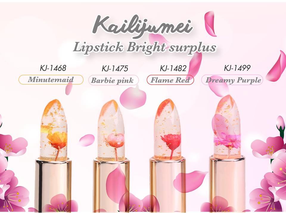 Kailijumei , Lipstick Bright , Barbie Doll Powder , ลิปKailijumei , ลิปดอกไม้ , ลิปเปลี่ยนสี , คาลิจูเม่ , kailijumei lipstick รีวิว , kailijumei flower jelly lipstick , kailijumei ซื้อที่ไหน