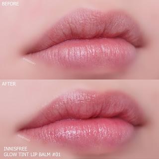 innisfree glow tint lip balm swatch , innisfree glow lip balm รีวิว , innisfree glow lip balm review , innisfree glow tint lip balm ราคา