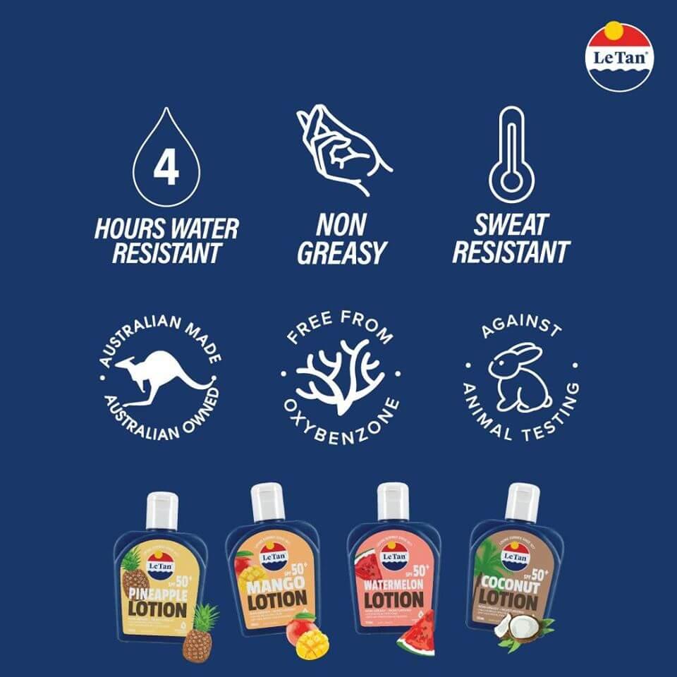 Le Tan , le tan lotion review, le tan coconut lotion, le tan coconut lotion review, le tan products, le tan products australia, le tan coconut lotion spf50+