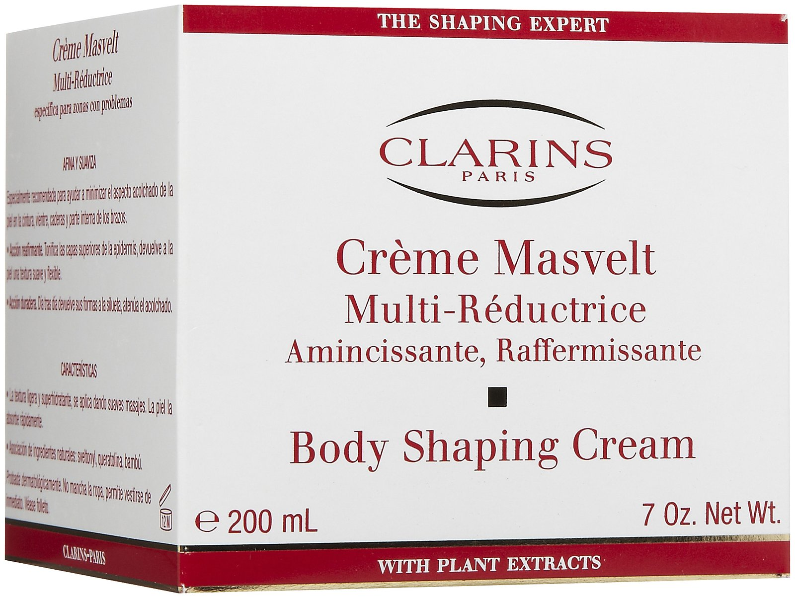 clarins body shaping cream instructions