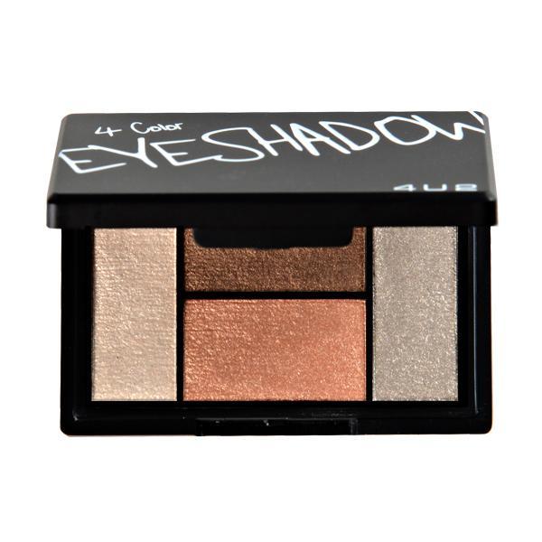 4 Color Eyeshadow #04 Mellow 4.5g อายชาโดว์พาเลทพกพา ไอเท็มสำหรับ Everyday Looks เม็ดสีแน่น สีสวยติดทนนาน ในเซตมีทั้งเนื้อ Matte และ Pigment