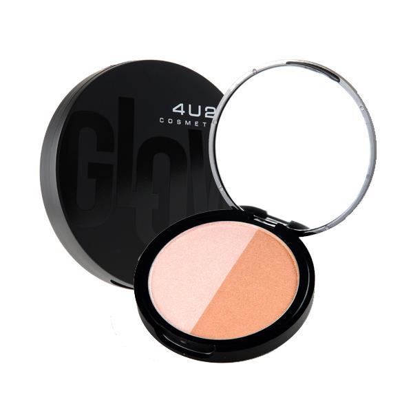 4U2 Glow! 9g. แป้งที่ทำให้ผิวของคุณดูโกล์ว ไฮไลท์พร้อมคอนทัวร์ มีมิติให้กับใบหน้าอย่างธรรมชาติ มี 2 สีในตลับเดียวเหมาะกับทุกๆสีผิว