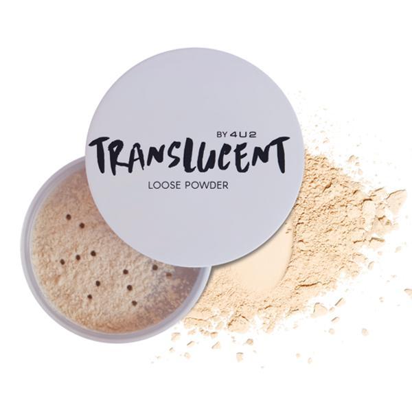 4U2 Translucent Loose Powder แป้งฝุ่นโปร่งแสง เนื้อเนียนละเอียด ควบคุมความมัน เซ็ตเมคอัพติดทนนาน
