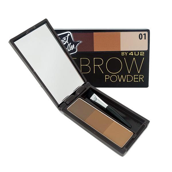 4U2 Eyebrow Powder #01 พาเลทเขียนคิ้วแบบฝุ่น ให้ลุคธรรมชาติ มาพร้อมแปรงในแพ็คเก็จ ใช้ง่ายใช้ได้กับทุกลุค!