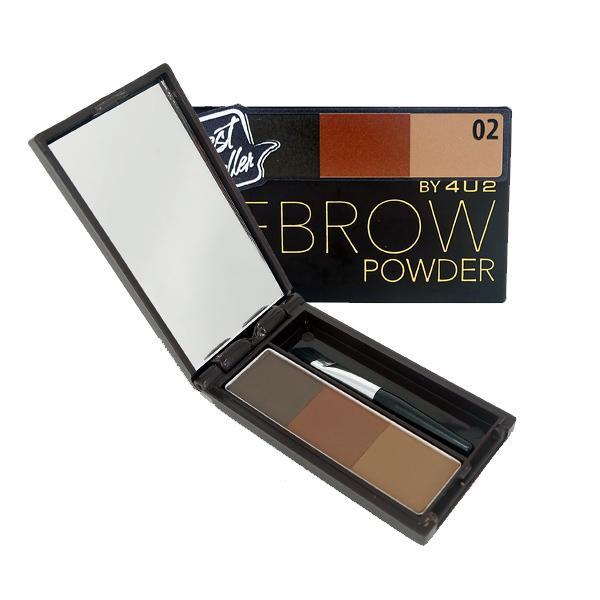 4U2 Eyebrow Powder #02 พาเลทเขียนคิ้วแบบฝุ่น ให้ลุคธรรมชาติ มาพร้อมแปรงในแพ็คเก็จ ใช้ง่ายใช้ได้กับทุกลุค!