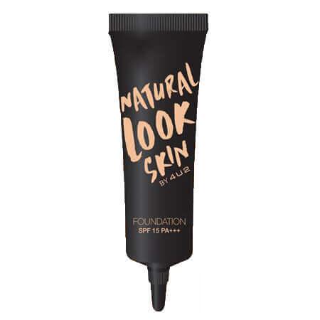 Natural Look Skin SPF15 PA+++ #01 Light Beige รองพื้นเนื้อครีมสูตรบางเบา ปกปิดได้อย่างเป็นธรรมชาติ สี Light Beige เหมาะสำหรับผิวขาว - ปานกลาง