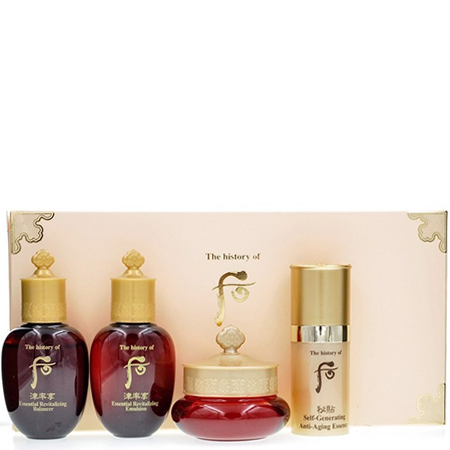 History Of Whoo, History Of Whoo, History Of Whoo รีวิว, History Of Whoo ราคา, History Of Whoo Special Gift Set 4 Items, The History of Whoo Bichup Ja Saeng Essence 8ml, The History of Whoo Jinyulhyang Essential Revitalizing Balancer 20ml, The History of Whoo Jinyulhyang Essential Revitalizing Lotion 20ml, The History of Whoo Jinyulhyang Intensive Revitalizing Cream 4ml