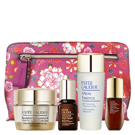 Estee Lauder Estee Lauder Set Advanced Night Repair Synchronized Recovery Complex II 7 ml. + Revitalizing Supreme+ Global Anti-Aging Power Soft Creme 15 ml + Micro Essence Skin Activating Treatment Lotion 30 ml. + Advanced Night Repair Eye Concentrate Matrix 5 ml + กร