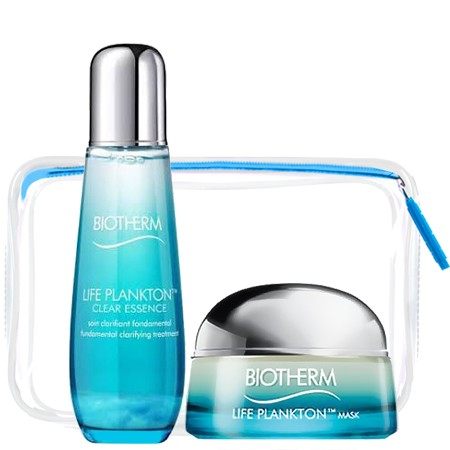 Biotherm Biotherm Set 3 (Limited Edtion) Life Plankton Clear Essence 75 ml. +Life Plankton™ Mask 15ml (no box) + กระเป๋าใส 1 ใบ